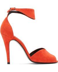Pierre Hardy Orange Suede Arletty Heels - Lyst