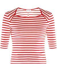 Saint Laurent Striped Wool Sweater - Lyst