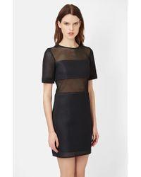 Topshop Unique Paneled Mesh Dress - Lyst