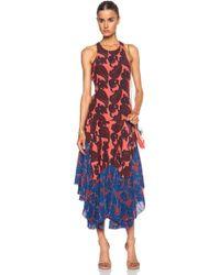 Stella McCartney Laila Paisley Pleated Silk Dress - Lyst