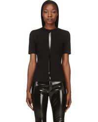 Dion Lee Black Linear Ponti T_shirt - Lyst
