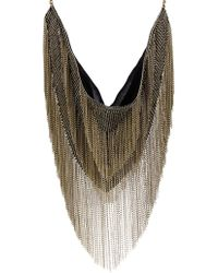 Isabel Marant Linares Fringed Chain Necklace - Lyst