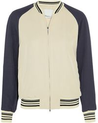 3.1 Phillip Lim Metallic Satin-twill Bomber Jacket - Lyst