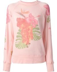Wildfox White Label Floral Print Sweatshirt - Lyst
