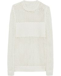 Mulberry Wicker Stitch Jumper - Lyst