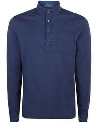 Polo Ralph Lauren Micro Mesh Long Sleeve Polo Shirt - Lyst