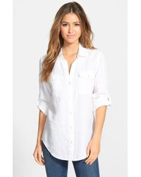 Tommy Bahama 'Two Palms' Roll Sleeve Linen Shirt - Lyst