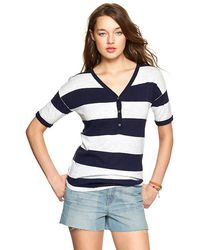 Gap Rugby Henley Sweater - Lyst