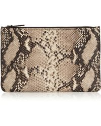 The Case Factory Snakeprint Leather Pouch - Lyst