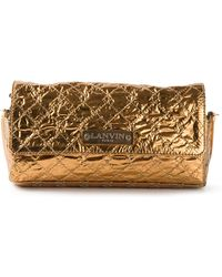 Lanvin Quilted Clutch Bag - Lyst