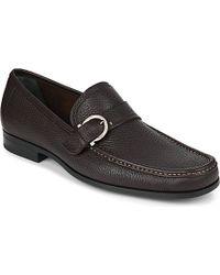 Ferragamo Navaro Leather Loafers - For Men - Lyst