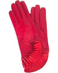 Thomasine Gloves - Paris Glove Sun Fan Wrist Red - Lyst