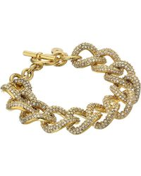 Michael Kors Brilliance Curb Link Toggle Bracelet - Lyst