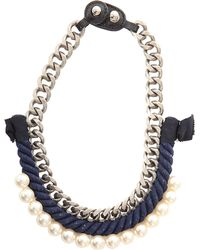 3.1 Phillip Lim - Rope/pearl Necklace - Lyst
