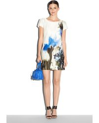 Milly Painted Floral Print Chloe Dress - Lyst