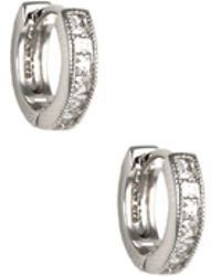 Judith Jack - Huggie Hoop Earrings - Lyst