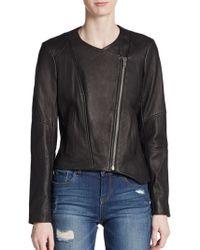Helmut Lang Asymmetrical Leather Jacket - Lyst