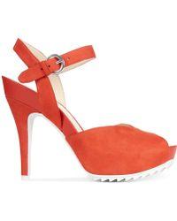 Nine West Ratical High Heel Platform Sandals - Lyst