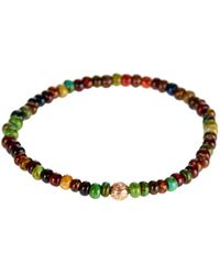 Luis Morais Gold and Glass Bead Symbol Bracelet - Lyst