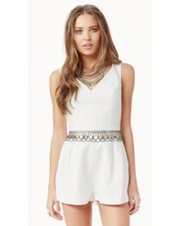 Keepsake If You Leave Playsuit white - Lyst