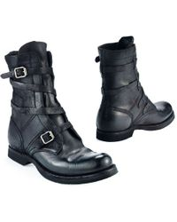 Ralph Lauren Buckled Leather Boot - Lyst
