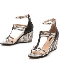 Rachel Zoe | Nancy Strappy Wedge Sandals | Lyst