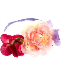 Asos Pretty Flower Side Cluster Hair Band - Lyst