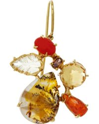 Sharon Khazzam - Women's Brown Diamond & Colored Gemstone Norma Ear Drop - Lyst