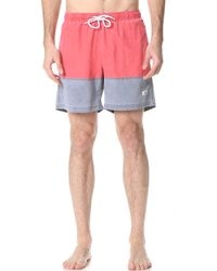 Trunks Surf & Swim - Pigment Dye Color Blocked - Lyst