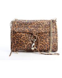 Rebecca Minkoff Tan Leopard Print Leather Mac Convertible Clutch Bag - Lyst