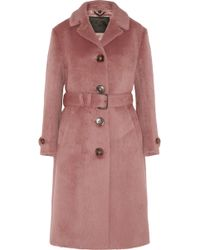 Burberry Prorsum - Brushed-Wool Coat - Lyst