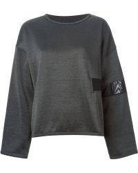 Mm6 By Maison Martin Margiela Sheer Panel Sweatshirt - Lyst