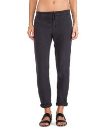 James Perse Linen Chino Pant - Lyst