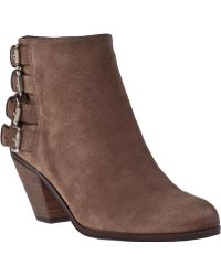 Sam Edelman Lucca Ankle Boot Beach Suede brown - Lyst