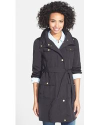 Ellen Tracy Utility Trench Coat with Removable Hood - Lyst