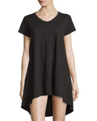 Jethro - Short-sleeve High-low Shift Dress - Lyst
