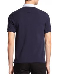 Fred Perry Contrast-Trim Polo Shirt - Lyst