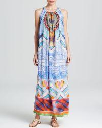 Camilla Embellished Silk Maxi Dress - Lyst