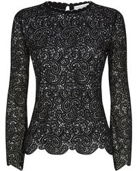 Carolina Herrera Lace Sweater - Lyst