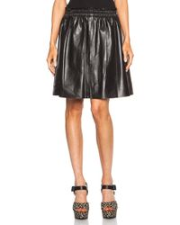 By Malene Birger Elodie Leather Skirt - Lyst