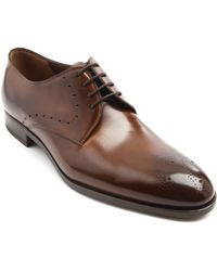 Fratelli Rossetti Toledo Perforated Brown Leather Derby Shoes - Lyst