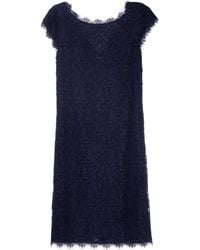 Diane von Furstenberg Fitted Lace Dress blue - Lyst
