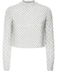 Needle & Thread Grid Mesh Embellished Top - Lyst
