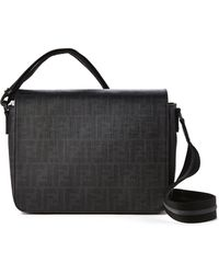 Fendi Black Small Messenger Bag - Lyst