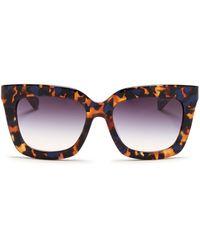Michael Kors 'Polynesia' Contrast Shell Effect Acetate Sunglasses brown - Lyst