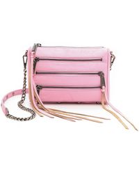 Rebecca Minkoff Mini 5 Zip Cross Body Bag Dusty Pink - Lyst