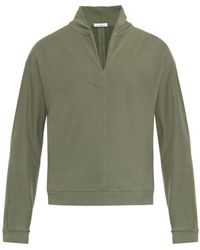 Tomas Maier Shawl-neck Cotton Sweatshirt - Lyst