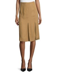 Stella McCartney Knee-Length Woven Pleated Skirt - Lyst