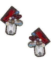 Topshop Multi-shape Stone Earrings - Lyst