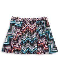 Jessica Simpson - Printed Textured Skirt - Lyst
